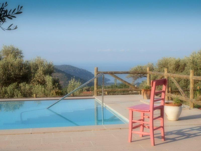 The pool and the view on the greece island (tilos)