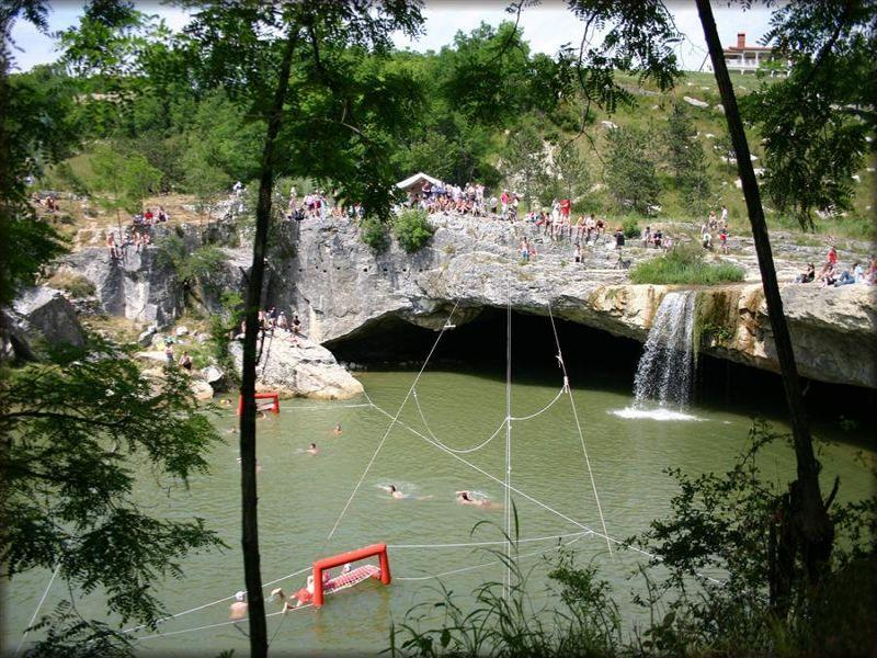waterfall near the town