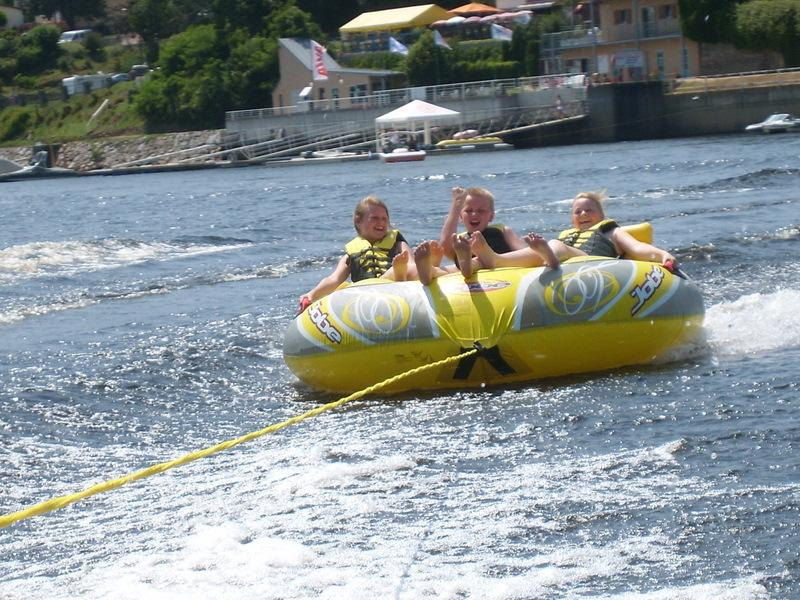 Watersports at the Lac Chambon.