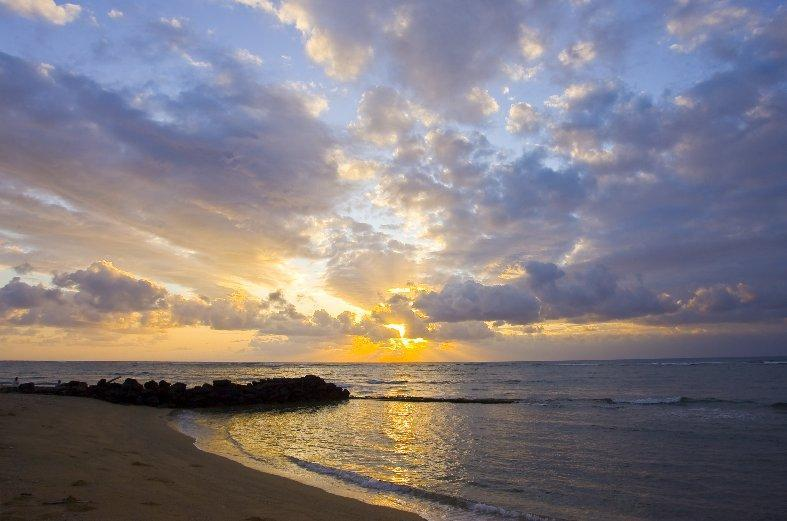 Waipouli Beach Resort sunrise