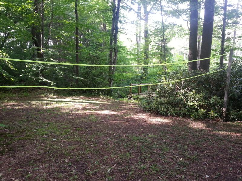 Private Creekside Volleyball Court