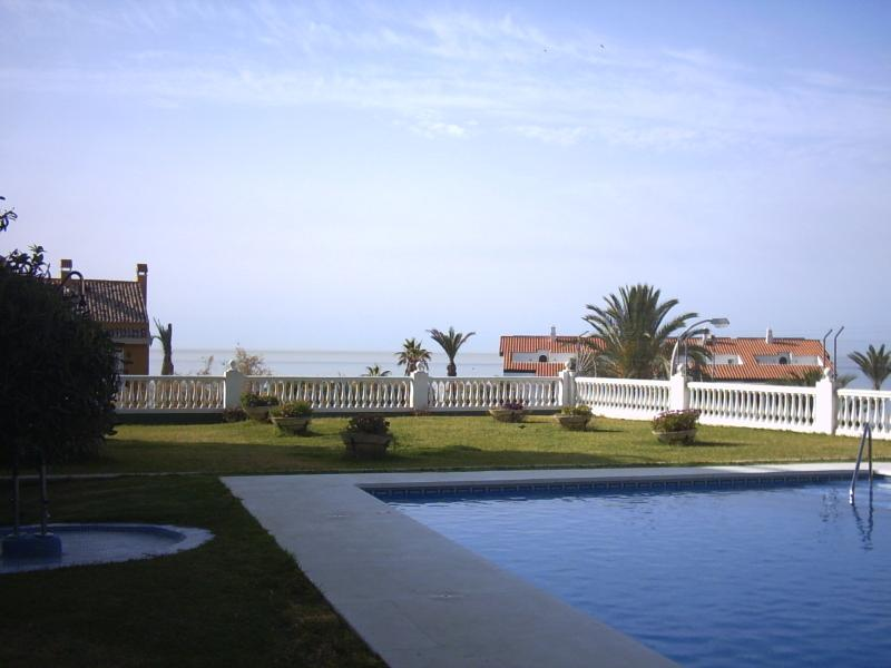View of Los Cisnes swimming pool and gardens