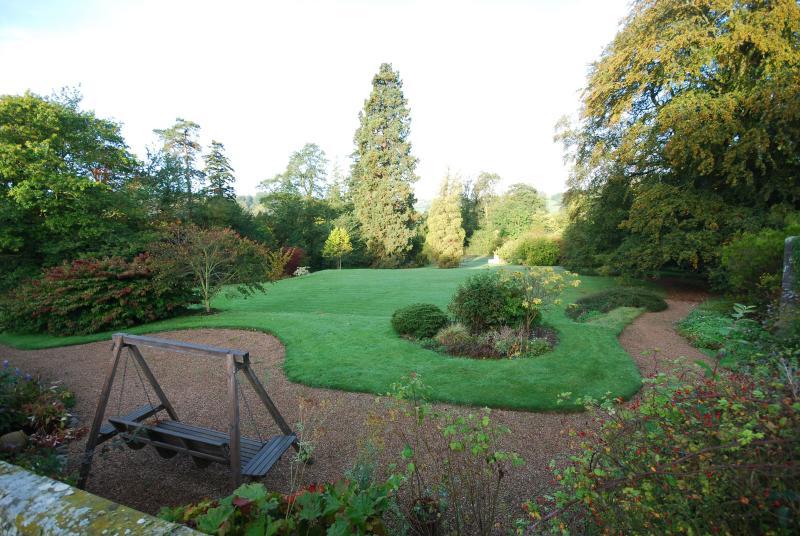 13 acres of gardens to explore include tennis court
