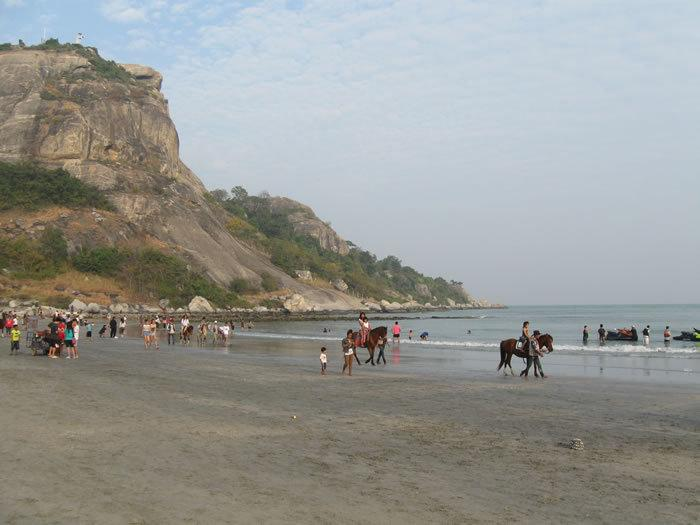 Beach by condo with horses to ride, jet skis and all types of water sports