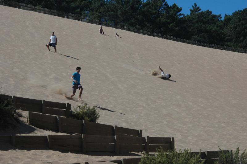 The great sand dune at Salir do Porto ( Hope you're fit )
