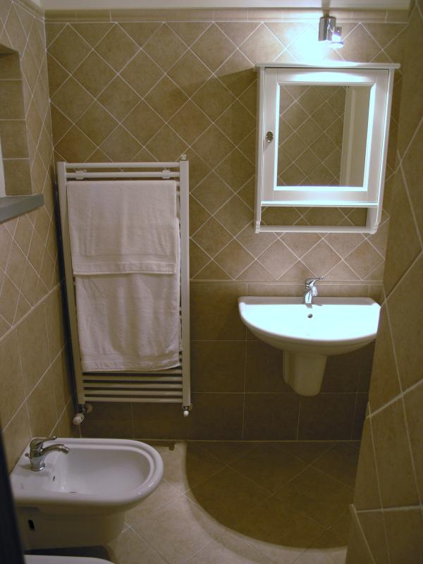 Master bathroom with shower cubical