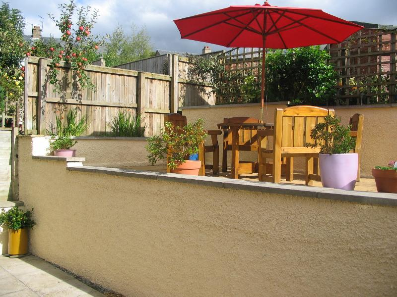 The patio area for outside entertainment