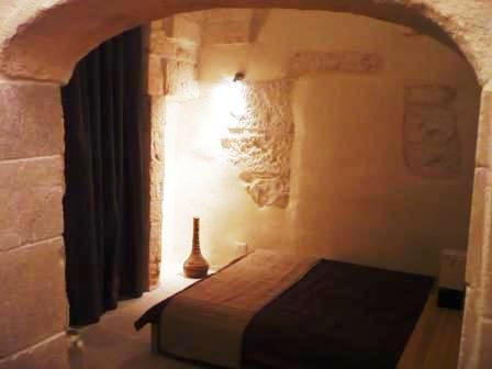 Cosy master bedroom at night