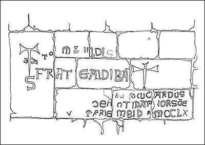 Santa Maria di Cea church, an inscription. Perhaps the Templar Knights...