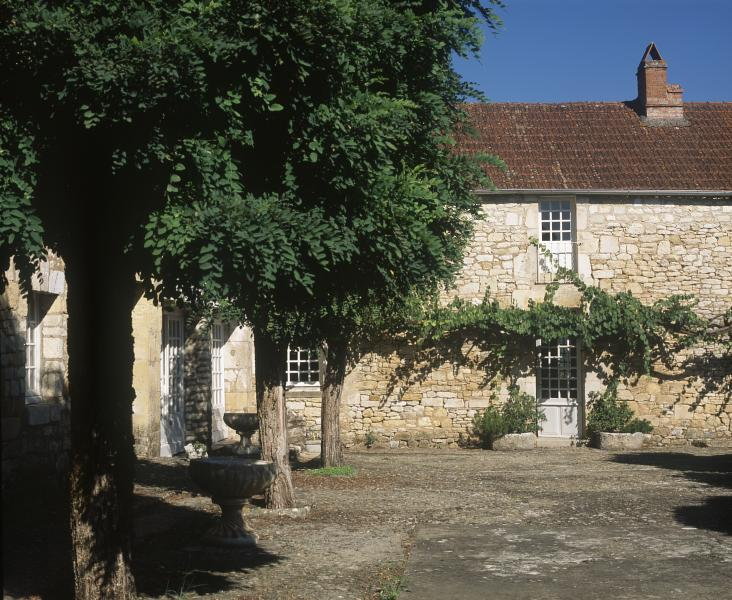 The old village courtyard