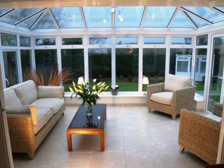 Bright, spacious conservatory - a great place to relax and read a book