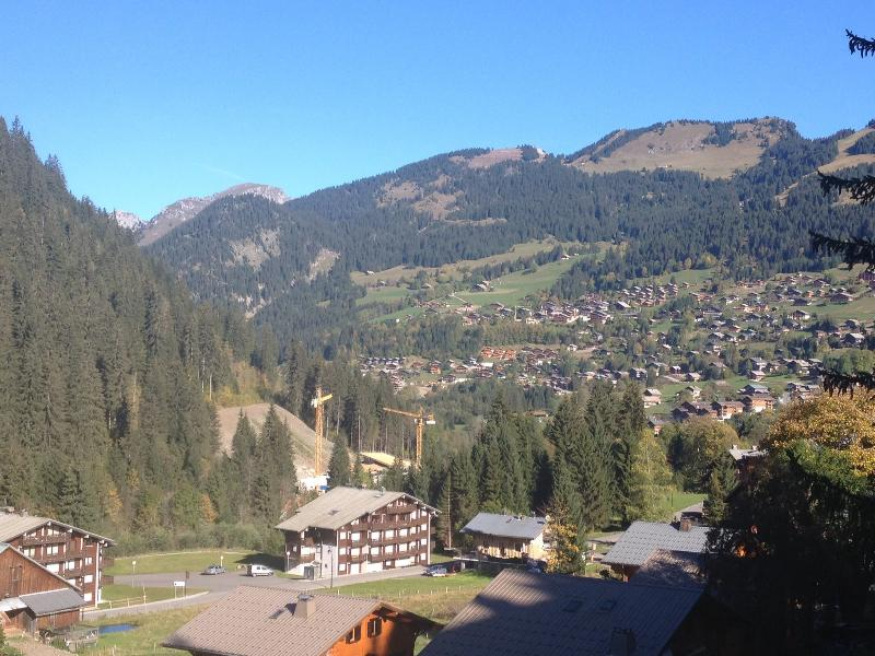 View from the terrace of the valley and Chatel centre in summer