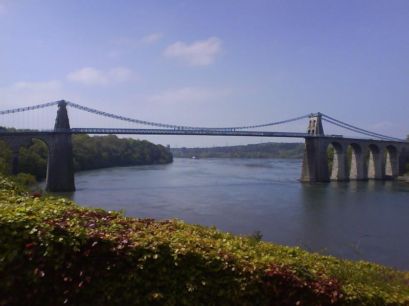 Menai Pont suspendu, portail d'accès à Anglesey