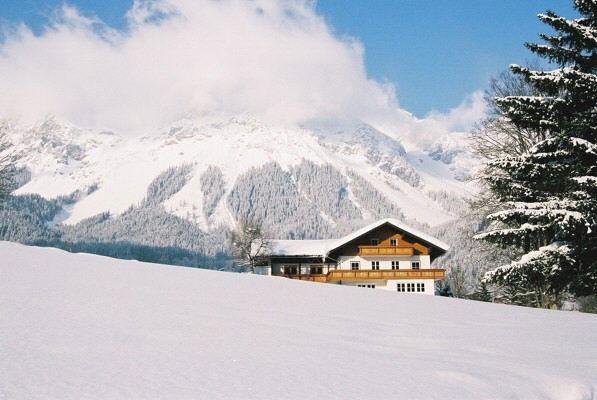 Across the snow fields to Haus Heidi