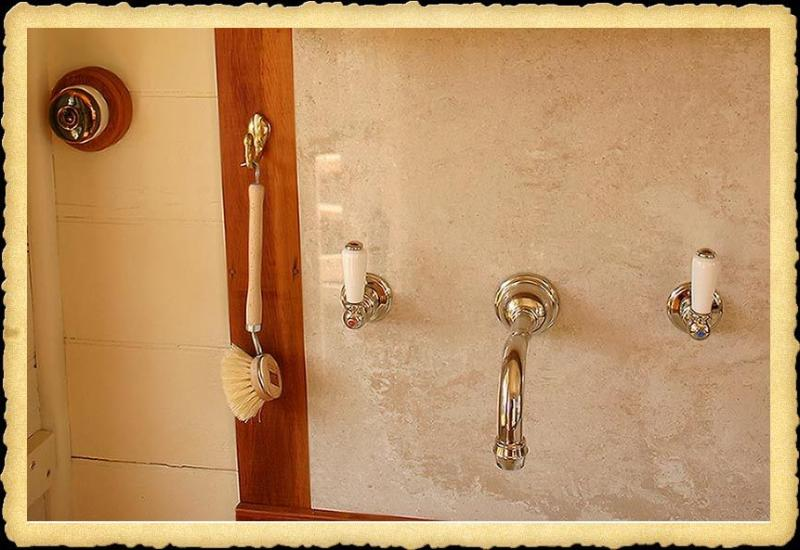 Antique light switches and a stylish tab