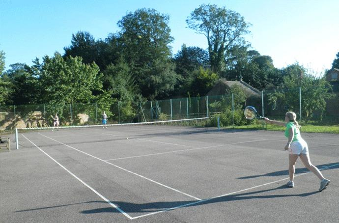 Play tennis in the walled garden!
