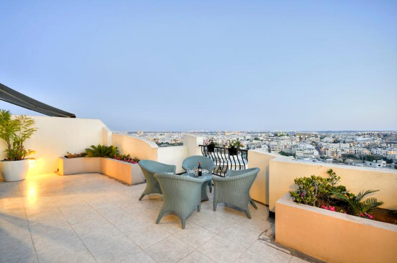 Large terrace with fantastic views