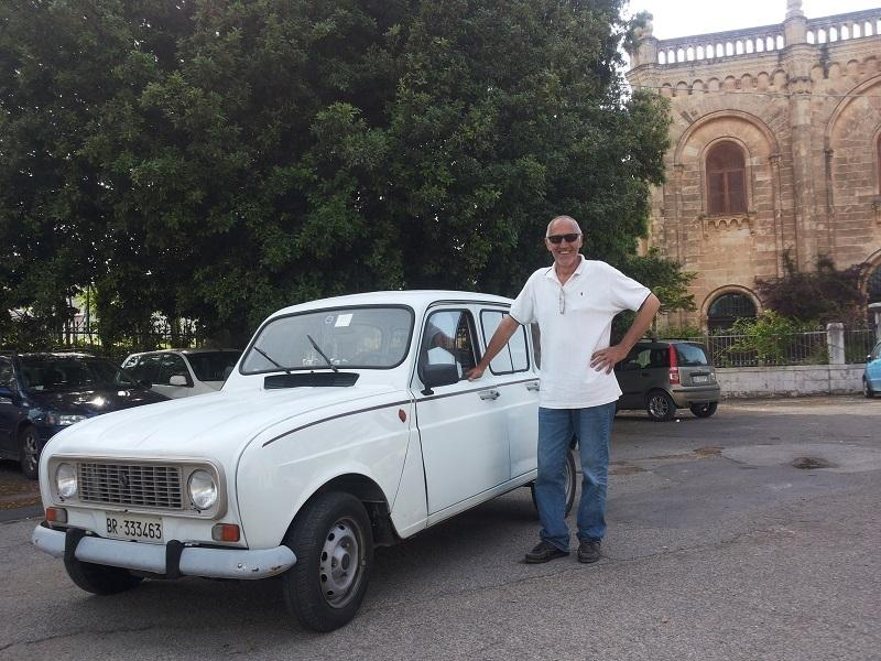 The owner and his vintage car!