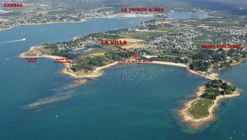 Its location, La Trinité sur Mer / Saint Philibert beaches