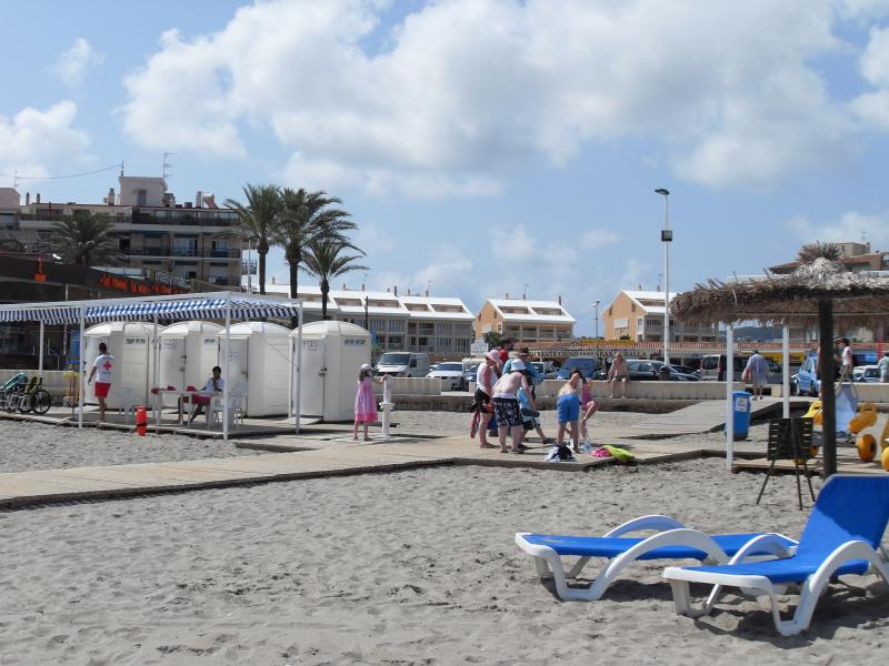 View of apartment from the beach