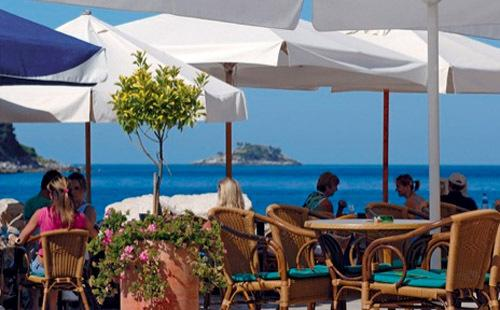 typical coffee bar by the sea