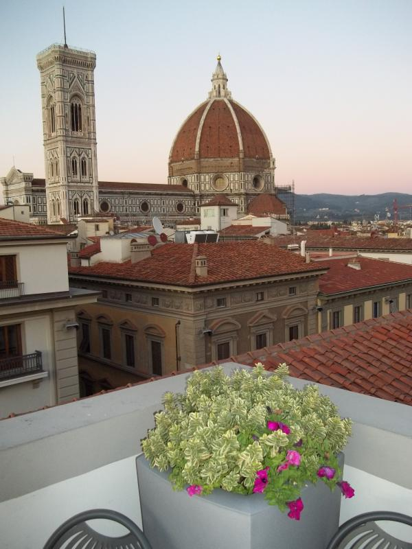 Florence, Italy, Giotto Tower and Duomo