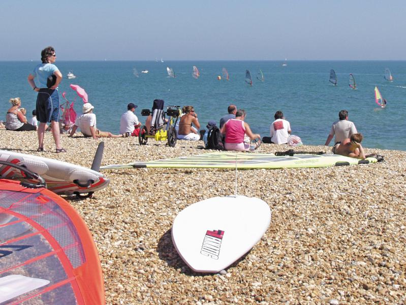 Try windsurfing at a nearby beach