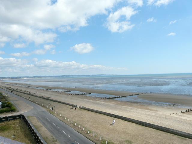 Littlestone Beach looking towards Hythe and Folkestone