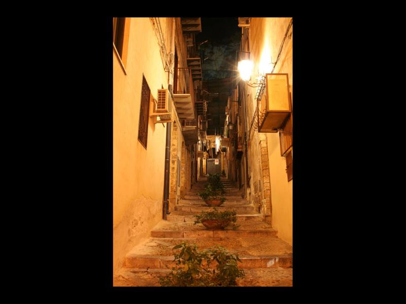 Via Caracciolo by the night. charming and reach of atmosphere!