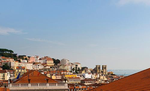 View to the S. Jorge Castle and Sé Patriarcal de Lisboa