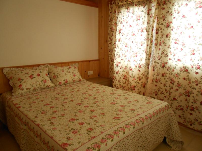 Bedrooms and curtains.