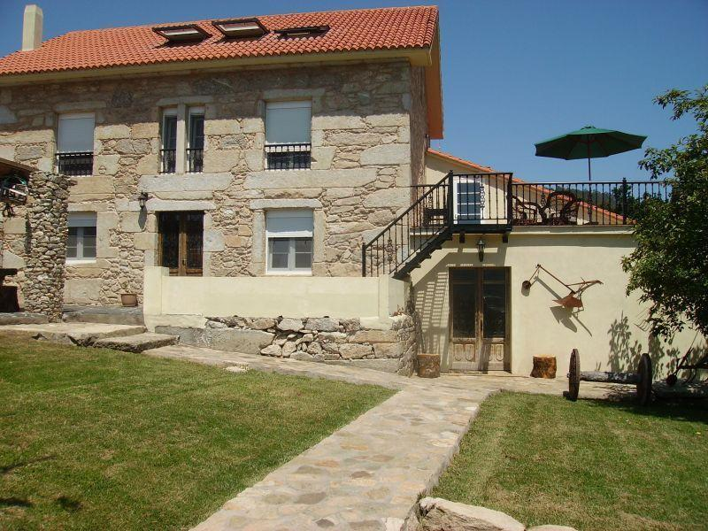 Puerto de Compostela main house, huge sun terrrace with amazing sea views and the barn entrance