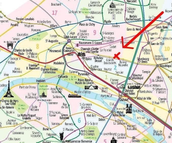 Onde em Paris: mapa