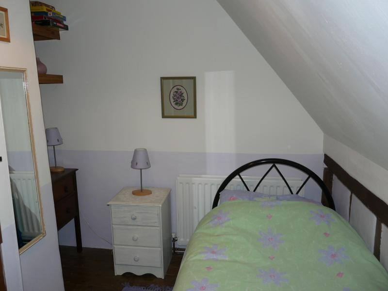 Single bedroom. Changing mat and travel cot also available on request (own bedding required).