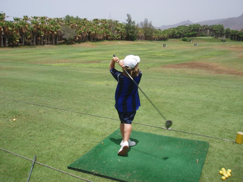 sort your swing out on the driving range