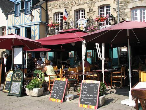 There is a good variety of cafes and restaurants in Josselin - something for everyone.
