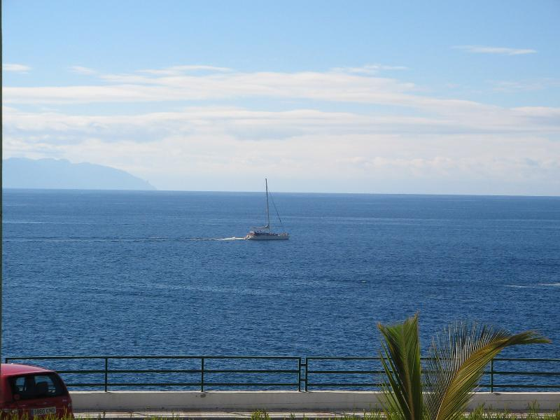 View from balcony overlooking the island of Gomera