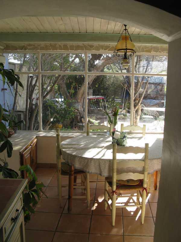 veranda overlooking terrace