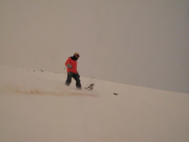 A powdery day at the top of the mountain