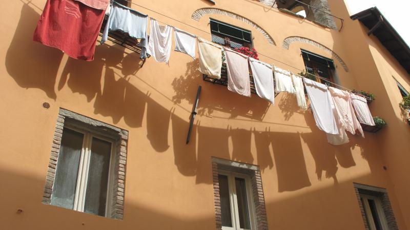laundry in historic center of Barga