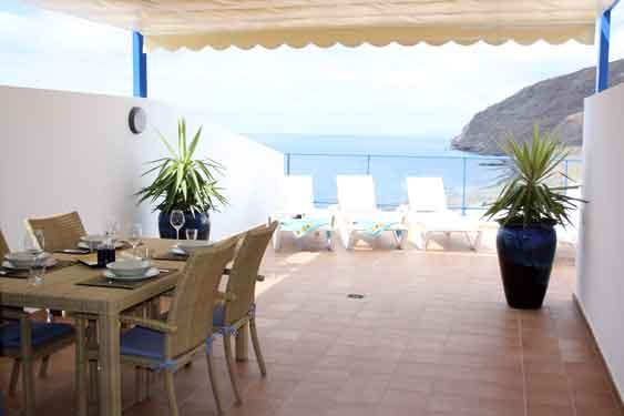 The Sun Terrace (La Solana) now with additional sun shade, or  without  for full sun all day!