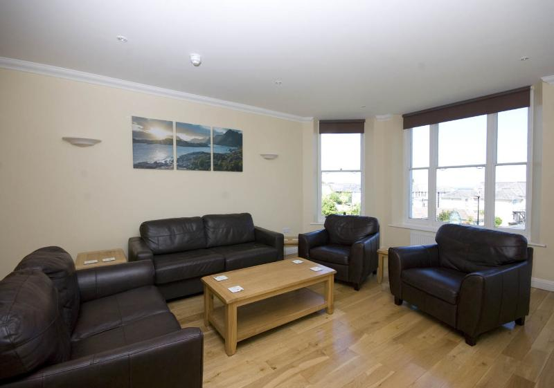 Comfy lounge in the Montagu 3 bedroom seafacing apartment.