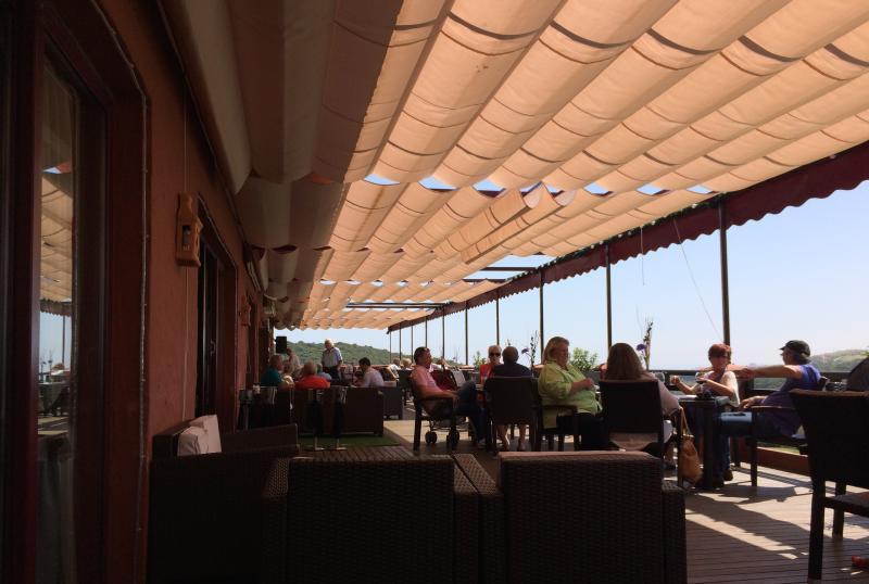Casares Golf brasserie overlooking the Casares golf course - a five minute walk!