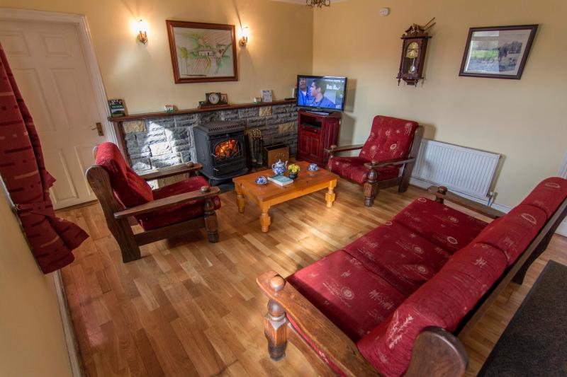 A cosy and warm sitting room to relax in after a busy day touring.