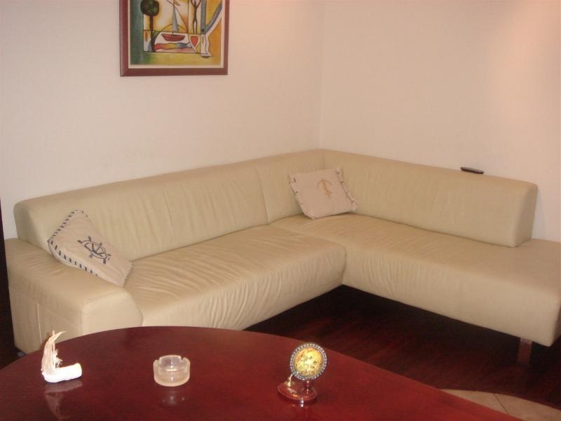 living room , bar table , leather sofa & paduk parquet