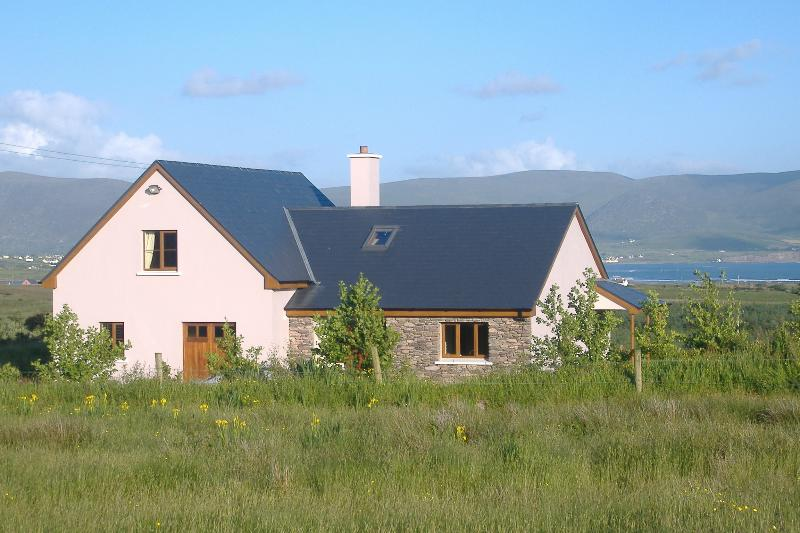 Amazing views overlooking Ballinskelligs Bay and Waterville.  Family friendly and private location.