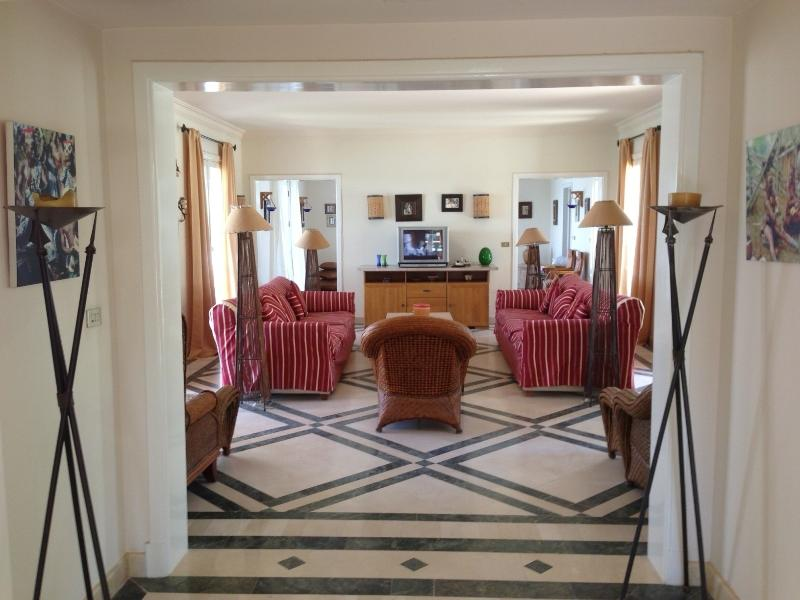 View from hallway into lounge