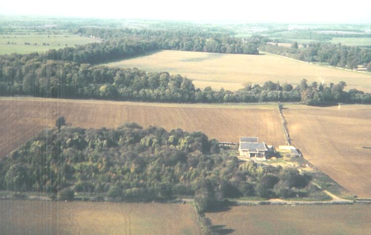 Aerial view of Cats Abbey
