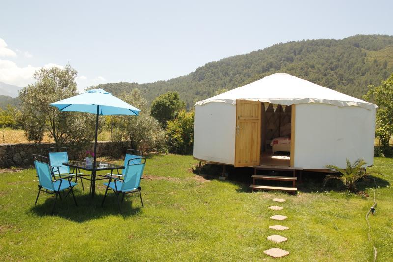 Scegli uno delle yurte quattro lusso, circondate da bellezze naturali