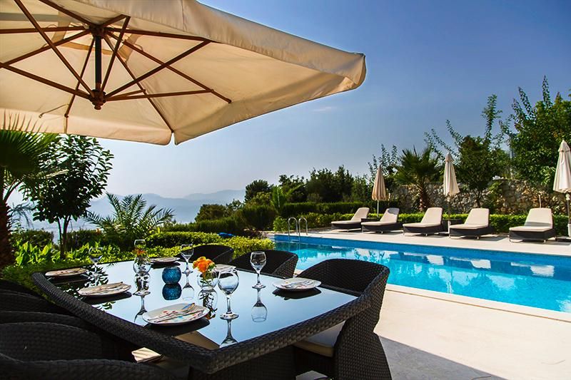 Poolside terrace with incredible views